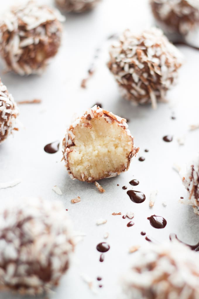 15 Best Raw Desserts. These Lamington Bliss Balls are yummy, super easy to make and tick most of the boxes - gluten free, dairy, free, refined sugar free, vegan and paleo!
