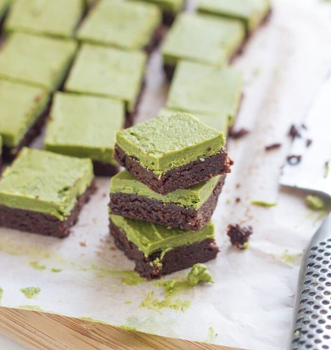 15 Best Raw Desserts. Raw Matcha Brownies. This dessert tastes as good as it looks! It is acked with lots of healthy goodness and is super easy to make. YUM!