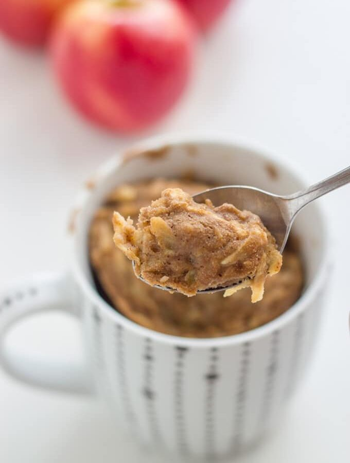 Apple and Cinnamon Mug Cake