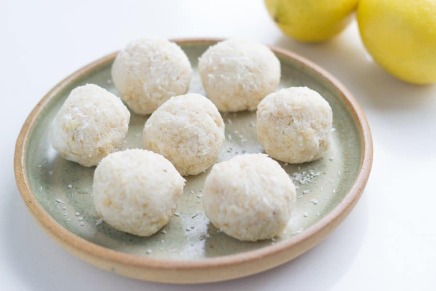 These Lemon Bliss Balls are made with only 5 ingredients and super easy to make.