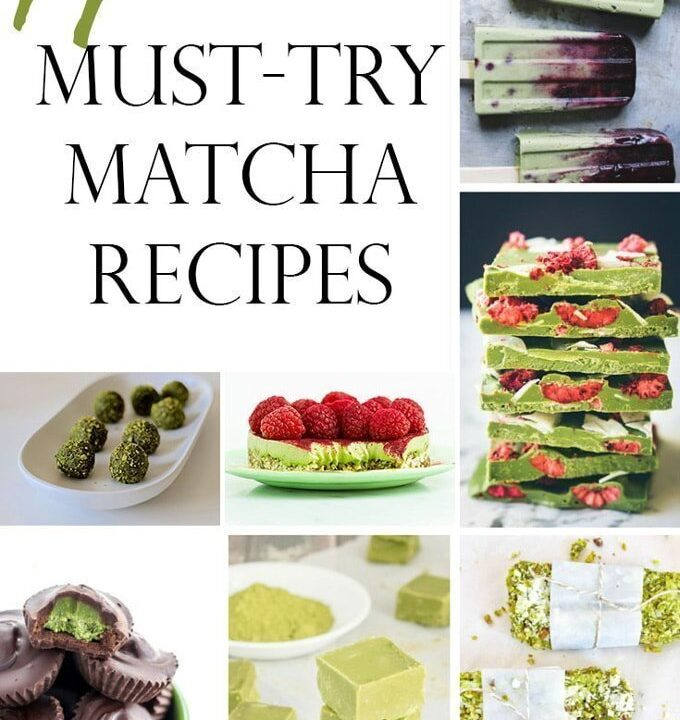 14 Must-Try Matcha Recipes.Matcha green tea powder some pretty amazing health benefits plus it amazing ingredient to use in your recipes, including chocolate, brownies, lattes and bliss balls. YUM!