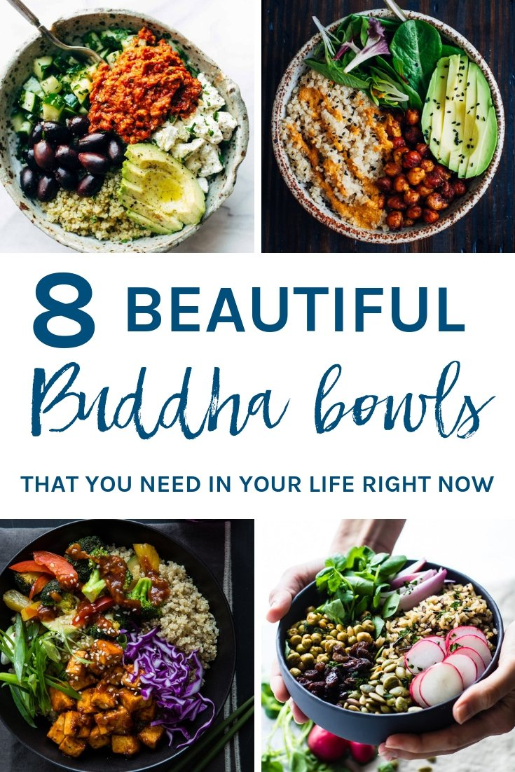 8 beautiful Buddha Bowls that you need in your life right now. They are easy to make, visually appealing and super healthy.