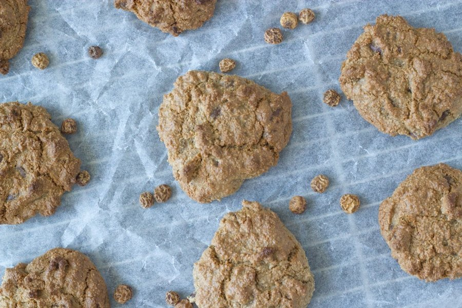These tigernut flour chocolate chip cookies are super simple to make and taste absolutely delicious. They only lasted a few hours in my house.