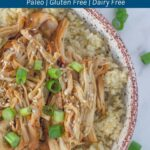 Slow cooker chicken teriyaki. One of the easiest slow cooker recipes that you can make and is delicious too!