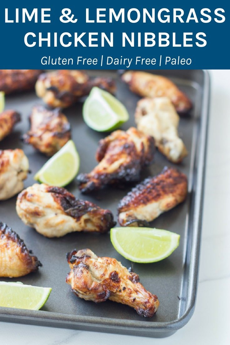 Lime and Lemongrass Chicken Nibbles - they are full of amazing flavour, especially when you make them with essential oils. #chicken #essentialoils #glutenfree #paleo | becomingness.com.au