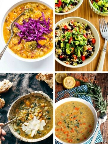 10 vegetarian slow cooker meals guaranteed to warm you up during the cooler months. Easy recipes made with real food. | becomingness.com
