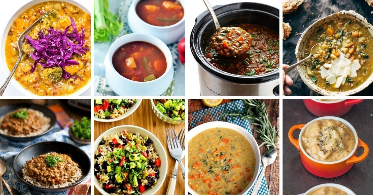 10 vegetarian slow cooker meals guaranteed to warm you up during the cooler months. Easy recipes made with real food.