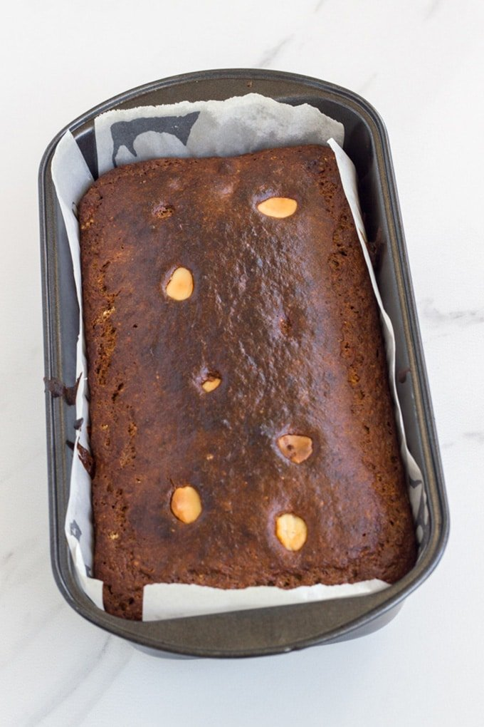 This is how the Banana and Macadamia Bread will look when ready to eat