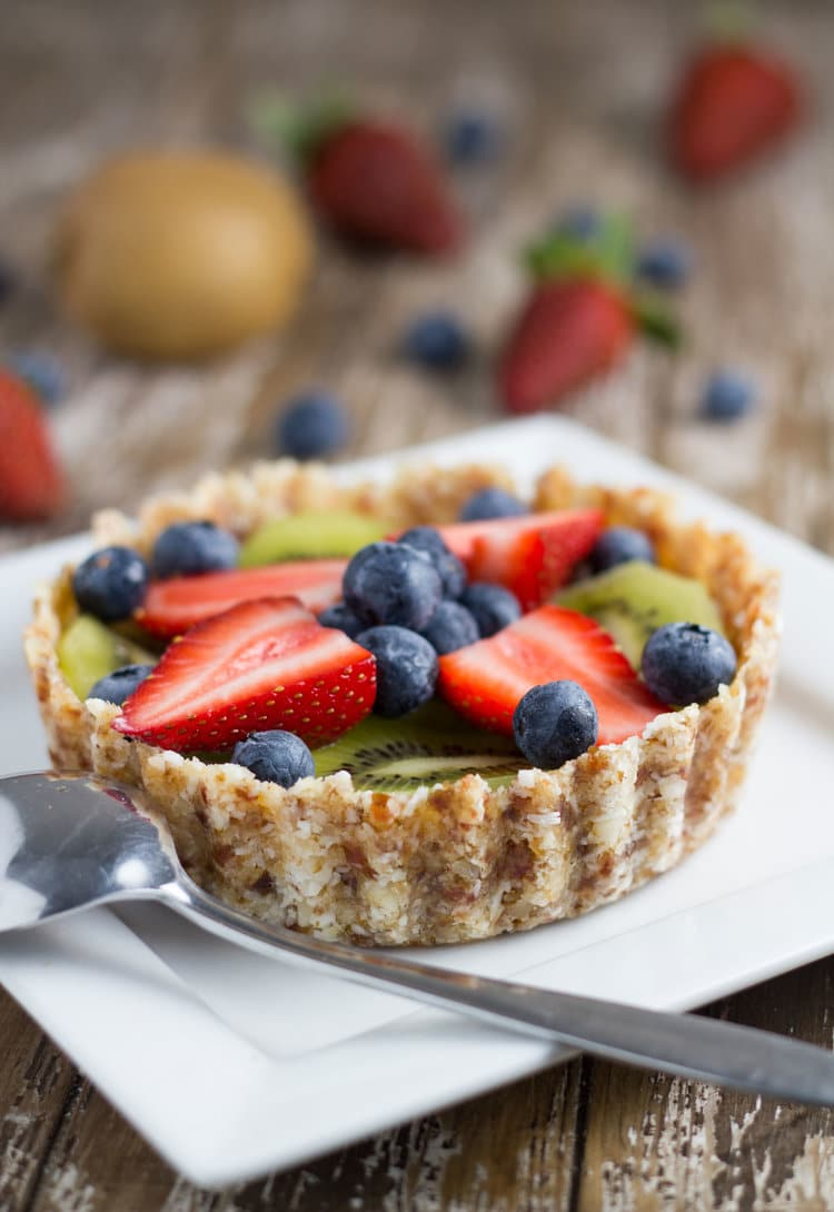 how the raw fruit tart will look when ready