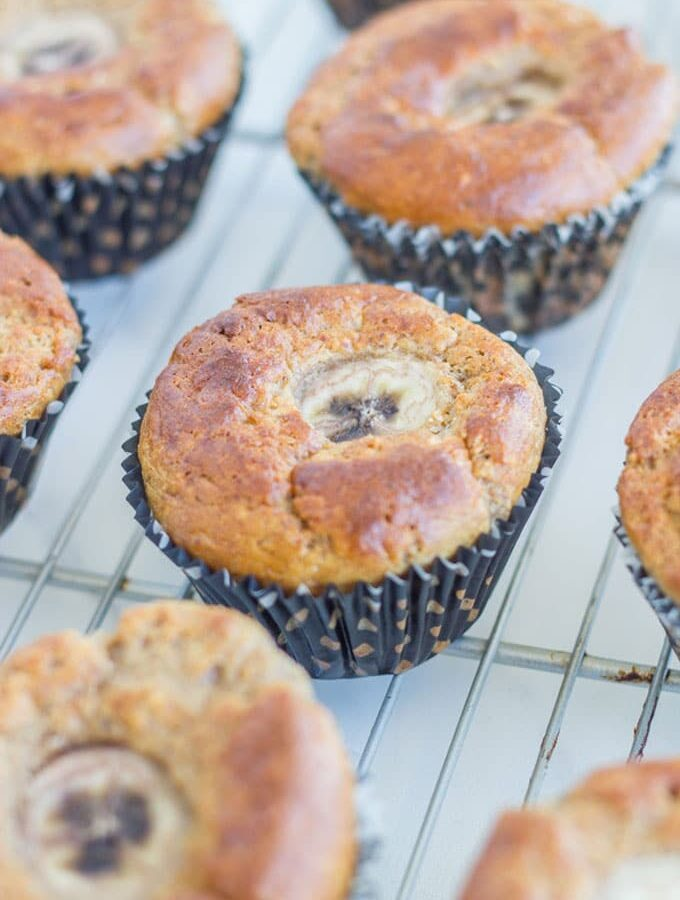 Banana Bread Muffins - These are seriously tasty and are gluten, dairy and SUGAR FREE!! The only sweetness comes from the Bananas. They will be a HIT with the family.