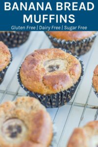 Banana Bread Muffins - These are seriously tasty and are gluten, dairy and SUGAR FREE!! The only sweetness comes from the Bananas. They will be a HIT with the family