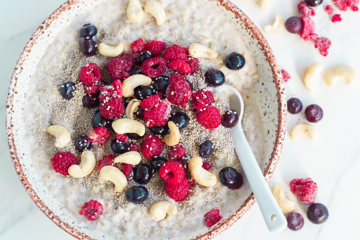 bowl of berry buckwheat