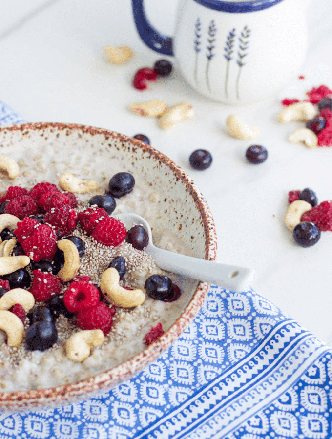 Berry Buckwheat Porridge (includes thermomix method)