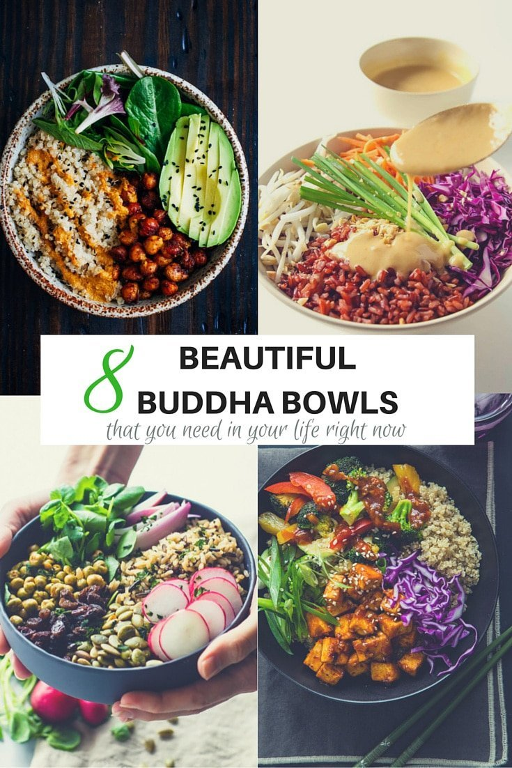 8 beautiful Buddha Bowls that you need in your life right now. They are easy to make, visually appealing and super healthy. What is not to like! | becomingness.com.au #buddhabowls #healthy #salad