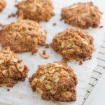 These gluten, dairy and refined sugar free Anzac Biscuits are so yummy! Delicious in fact!