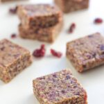 Raw Cranberry Date Bars are super easy to make and make the perfect snack to take on a road trip or to put in your child's lunch box.