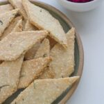 These Rosemary + Sesame Seeds Crackers were created to go with my Roast Beetroot, Onion + Macadamia Dip and are an absolute winner.