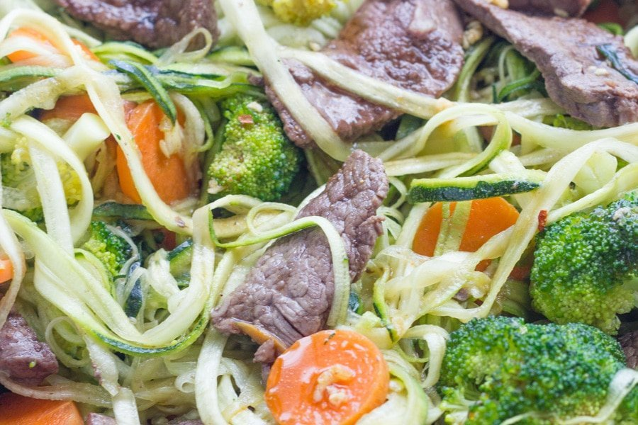 Beef Stir Fry with Zoodles is your perfect weeknight meal. It is easy to prepare, super healthy and packed full of flavour. PLUS it will keep your shopping budget right down!