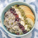 Gluten Free Chia Bircher Muesli. Will make an amazing addition to your breakfast menu. It is packed full of healthy ingredients, is really easy to make and tastes delicious.