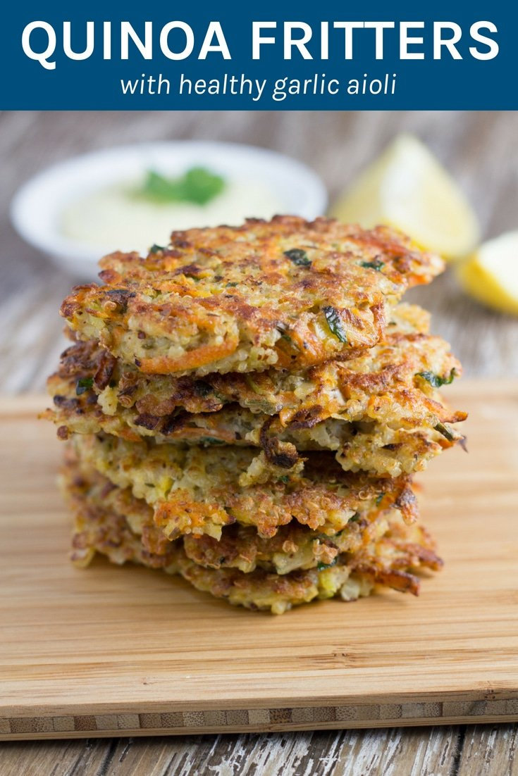 Quinoa Fritters. These make for a great appetizer or a light meal and are gluten and dairy free. So good! #quinoafritters #glutenfree #dairyfree #healthyeating | becomingness.com.au
