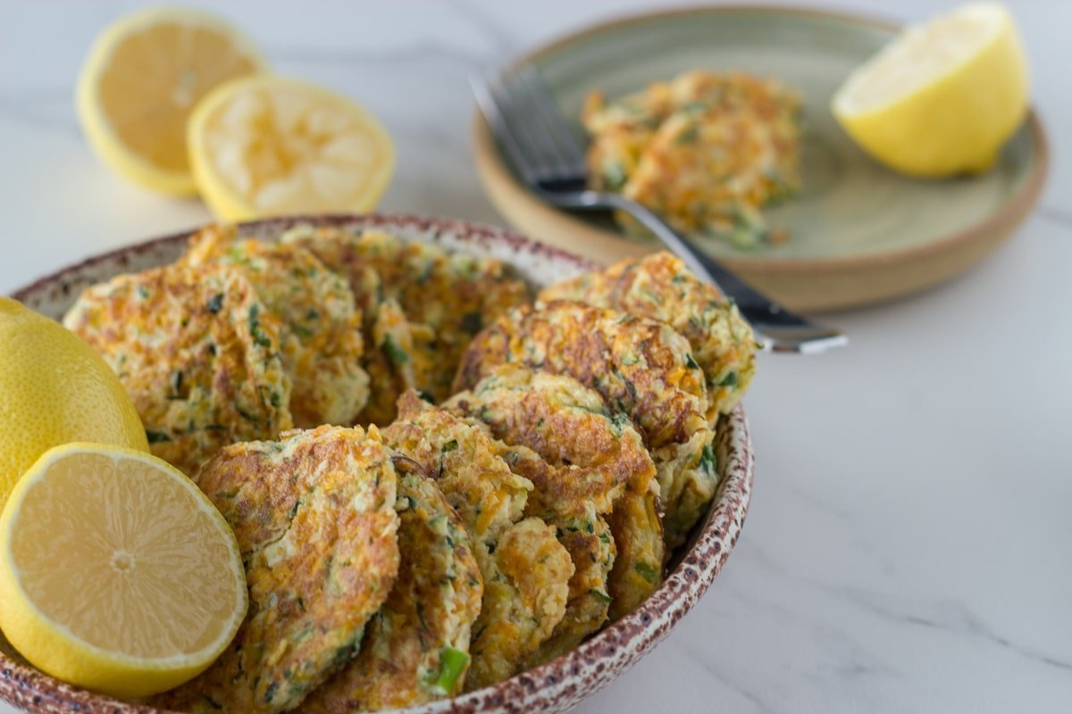 Pumpkin & Zucchini Fritters!! So delicious and super easy to make! These fritters will become a family household favourite.