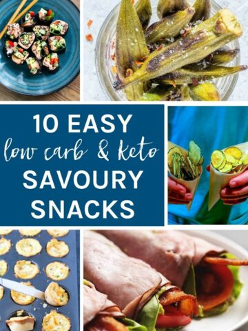 10 Easy Low Carb & Keto Savoury Snacks
