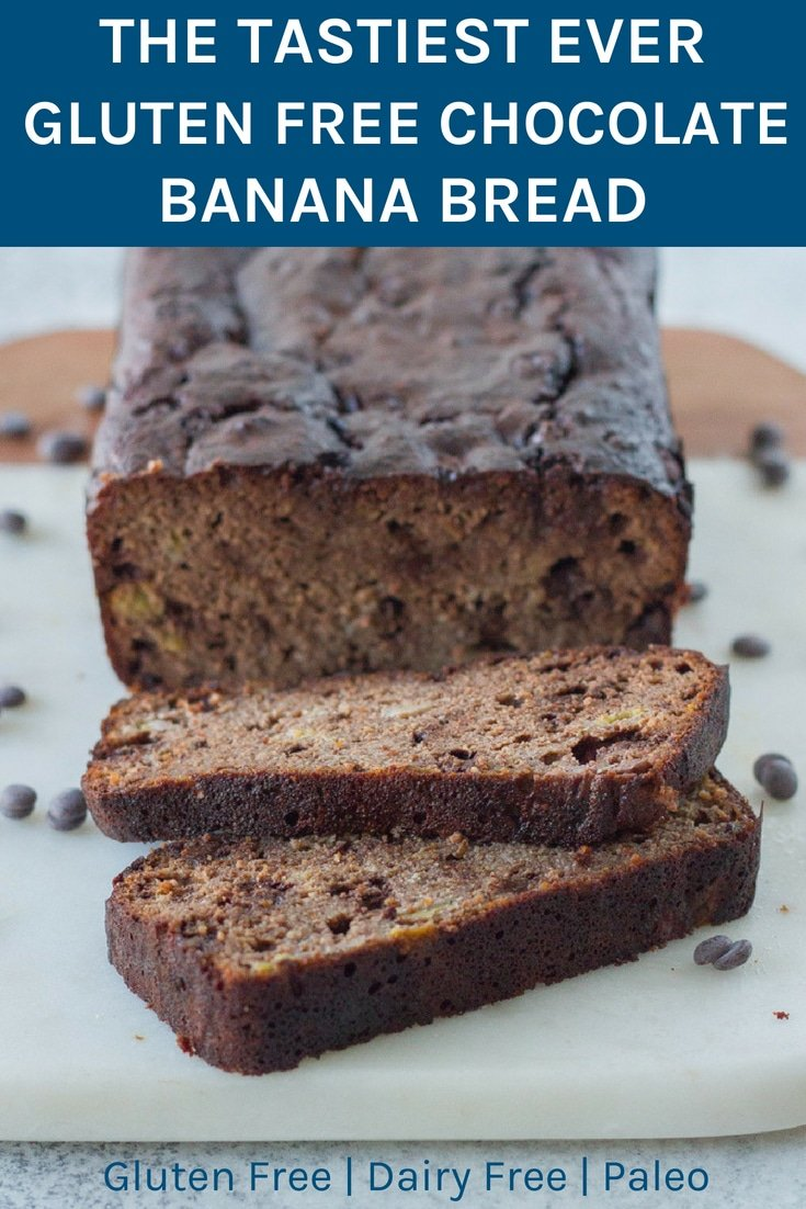 This is the tastiest ever gluten free chocolate banana bread!!! It is also dairy and refined sugar free. It is super easy to make and you wouldn't even guess it was gluten free.WINNER!! #glutenfree #dairyfree #chocolatebananabread #healthyeating | becomingness.com.au