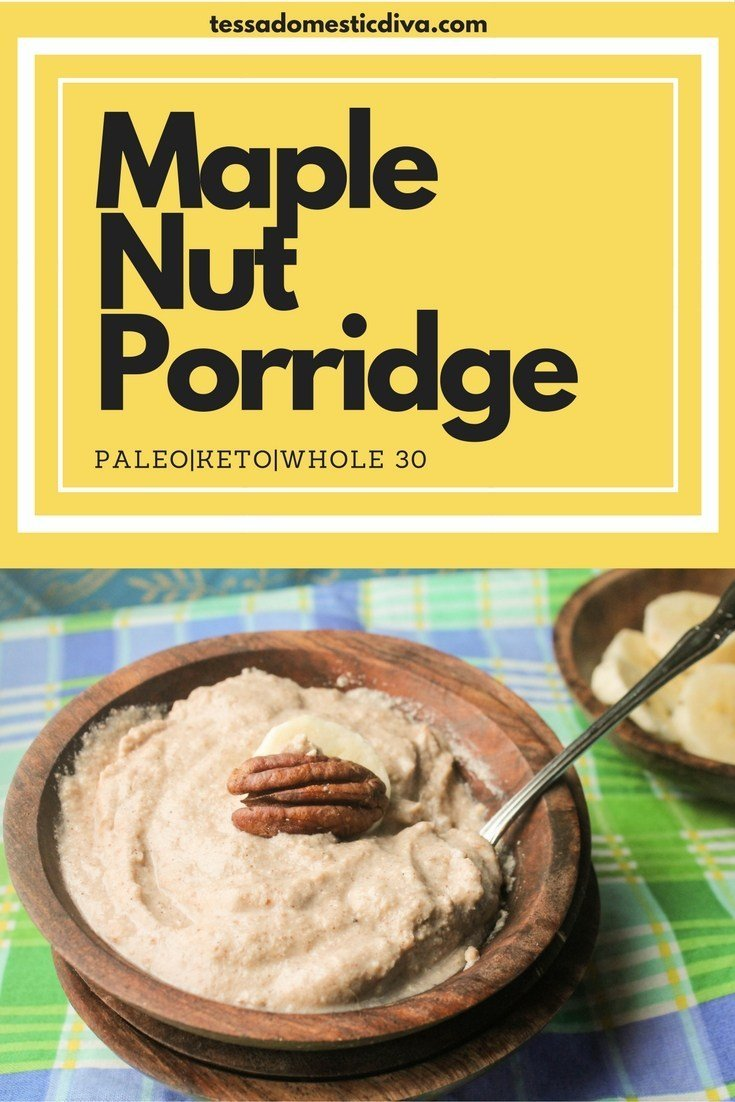 Creamy Paleo Maple-Nut Porridge - 19 of the best low carb keto breakfast recipes for every occasion. Whether you are in a hurry or it's the weekend, you will find recipes to suit every occasion.