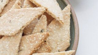Rosemary and Sesame Seed Crackers