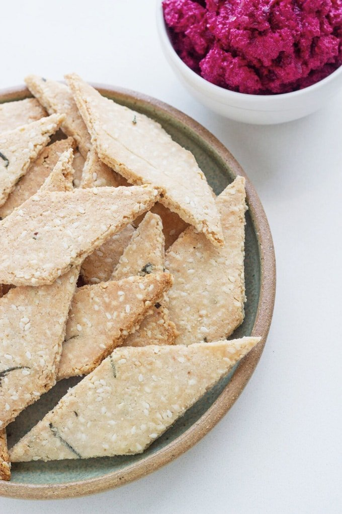 Rosemary and Sesame Seed Crackers | 10 Easy Low Carb & Keto Savoury Snacks