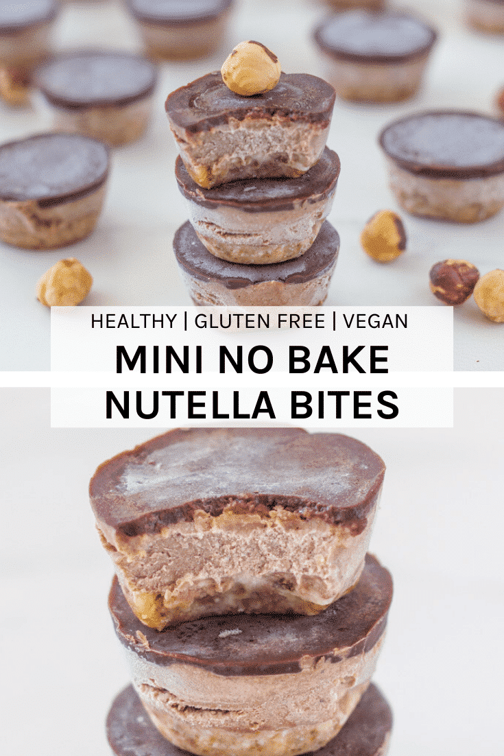 These mini no bake nutella bites are the BEST! Made with only real wholefood ingredients and packed full of deliciousness! #dairyfree #nutella #vegan #nobake #raw | becomingness.com