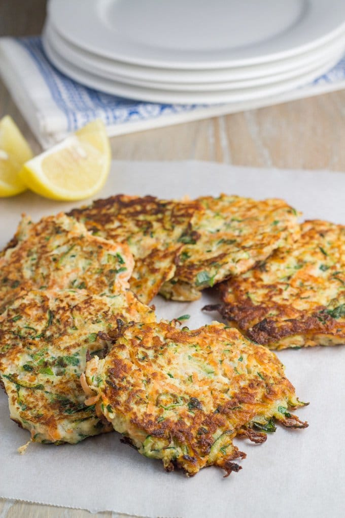 Top 10 Becomingness Recipes of 2018 - zucchini & sweet potato fritters