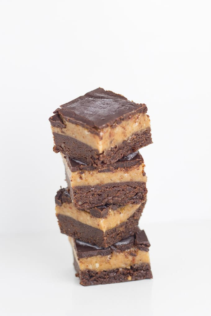 Top 10 Becomingness Recipes of 2018 - raw caramel brownie slice
