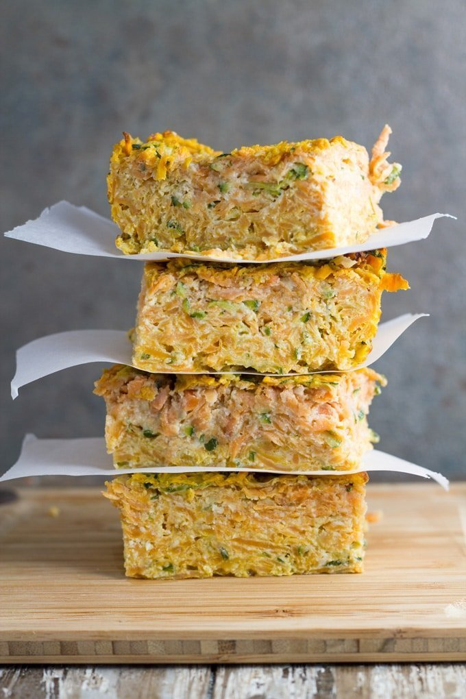 Top 10 Becomingness Recipes of 2018 - zucchini & sweet potato slice