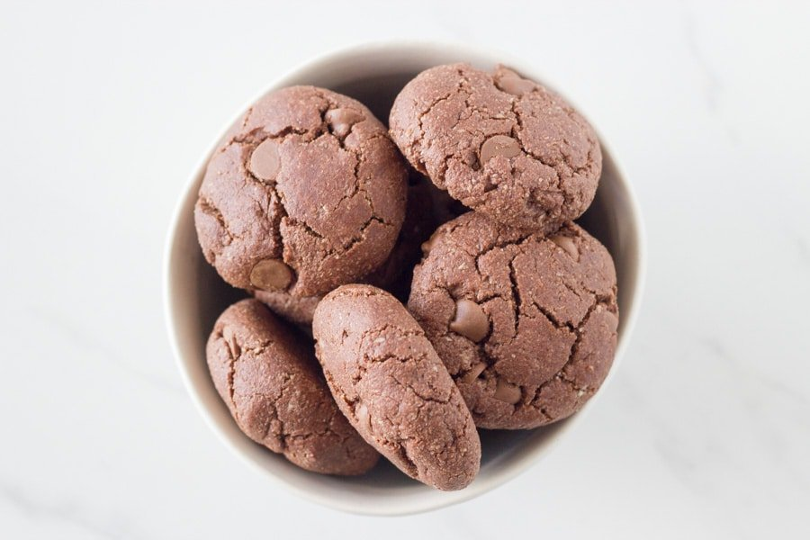 how the double choc chip cookies look when ready
