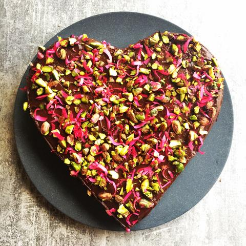Gluten Free Beetroot and Chocolate Love Cake