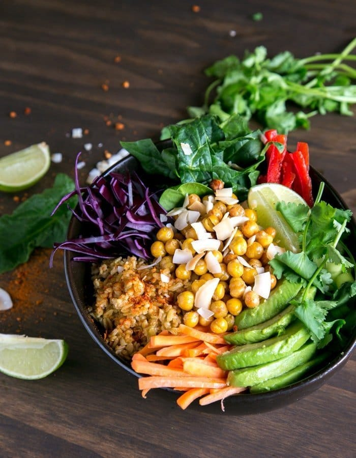 Spicy Chickpea Freekeh Buddha Bowl