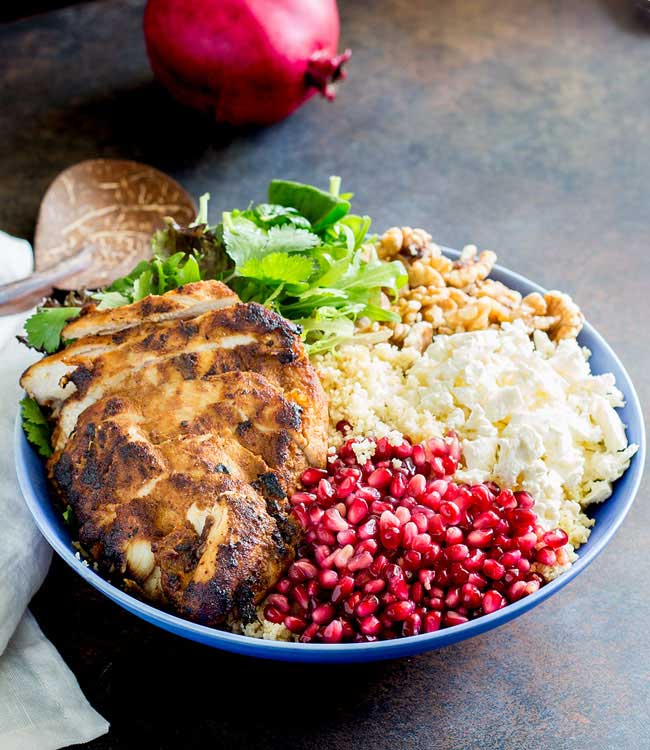 Moroccan Chicken Couscous Salad Bowl