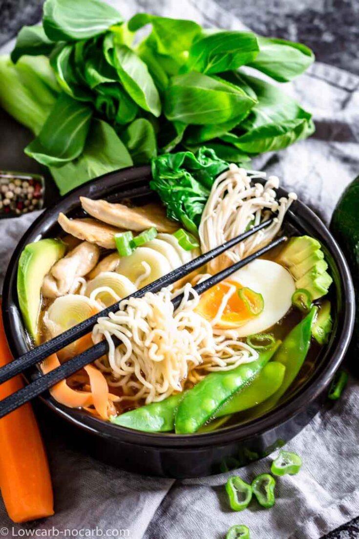 Keto Ramen Chicken Noodles Recipe