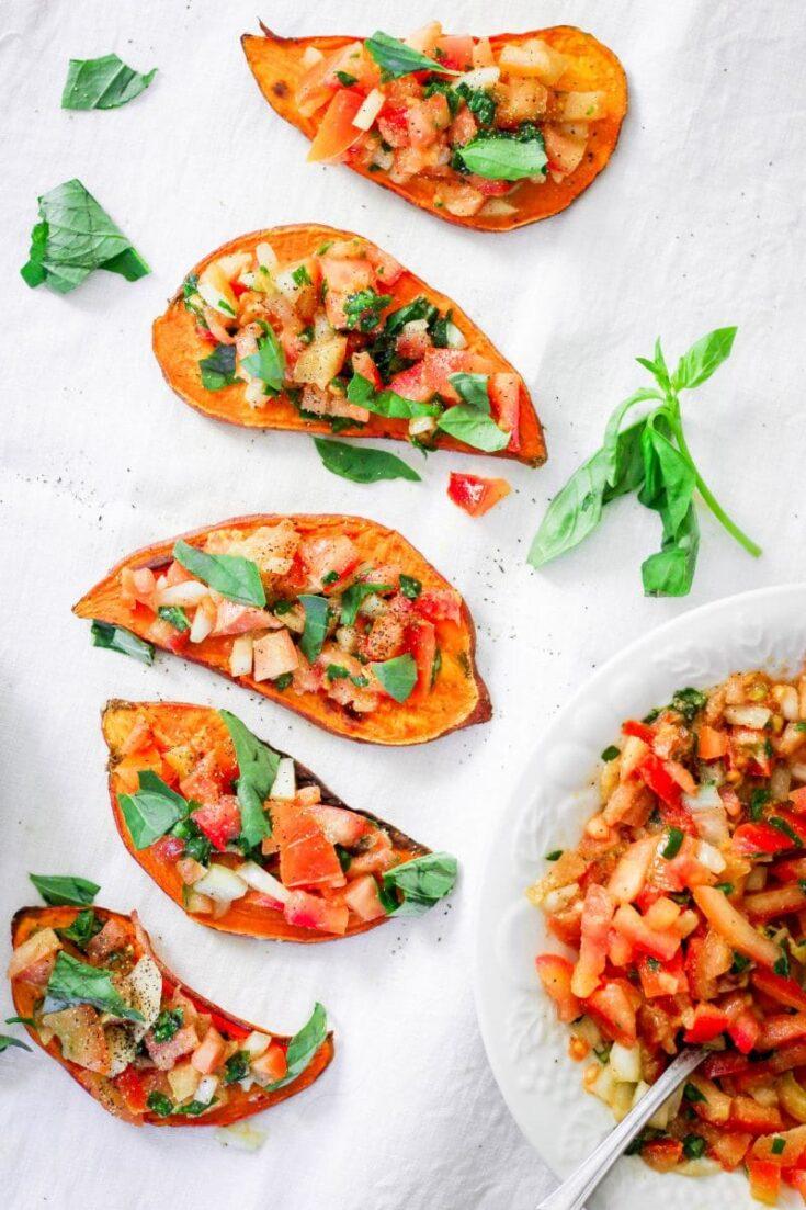 Bruschetta Sweet Potato Toast