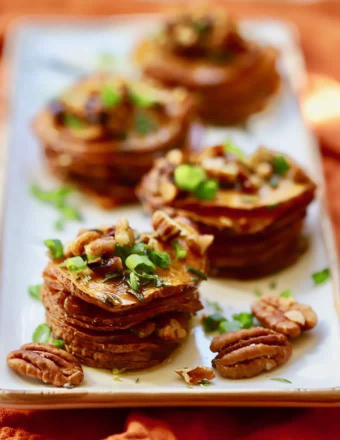 Healthy Roasted Sweet Potato Stacks