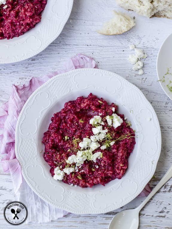 Beetroot and Fennel Risotto