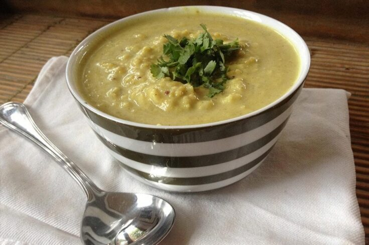 Indian Cauliflower, Potato and Mung Dal Soup