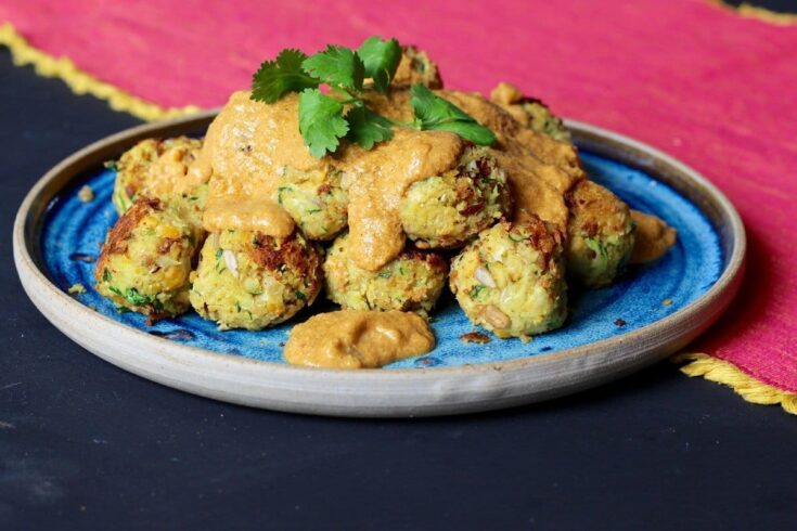 Chickpea & Sunflower 'Meatballs' in Coconut Cashew Curry.