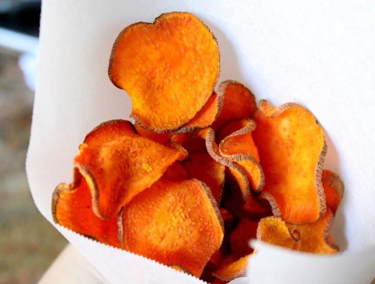 Oven Baked Sweet Potato Chips (Crisps)