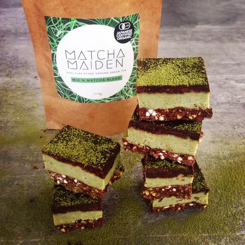Raw Matcha and Peppermint Chocolate Crunch