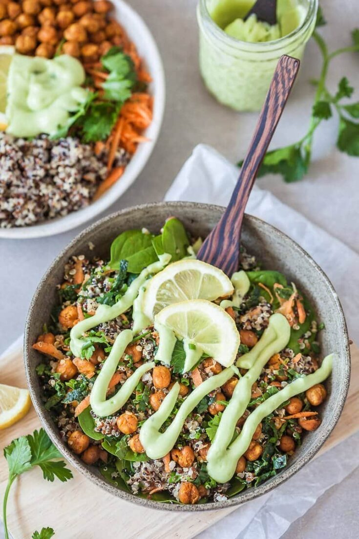 Chickpeas Kale Quinoa Buddha Bowl