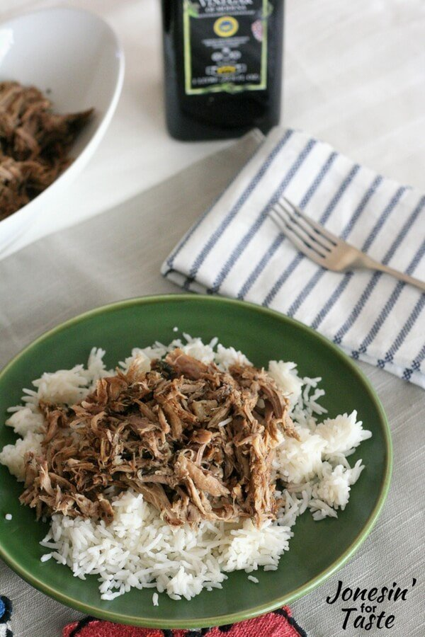 Slow Cooker Garlic Balsamic Pork