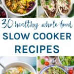 You are sure to find a new favourite in this collection of 30 healthy whole food slow cooker recipes. There are chicken, beef, lamb, pork & vegetarian options for you to make all year round. Easy to make and all gluten & dairy free.