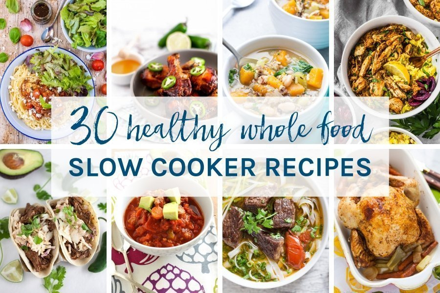 You are sure to find a new favourite in this collection of 30 healthy whole food slow cooker recipes. There are chicken, beef, lamb, pork & vegetarian options for you to make all year round. Easy to make and all gluten & dairy free